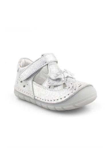 Cici Bebe Ayakkabı Nubuk Kız Çocuk Ayakkabısı Gümüş